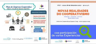 The academic year for cooperativism and social economy begins, with Espazo Coop and ECOBAS